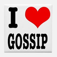 I Heart (Love) Gossip Tile Coaster