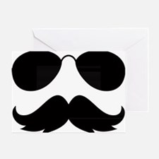 Mustache-021-A Greeting Card