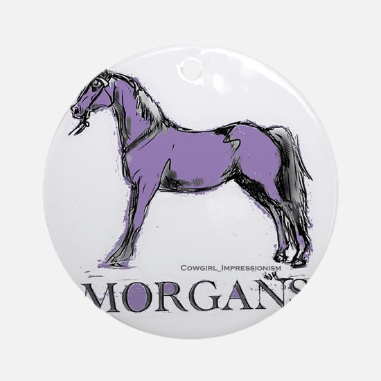 Morgan Horse Round Ornament