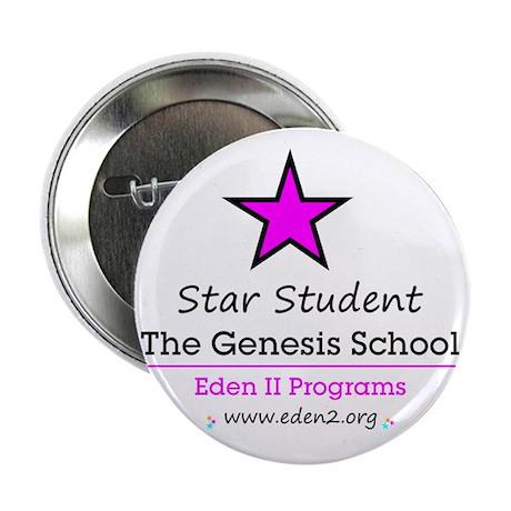 "Genesis School Star Student, Pink 2.25"" Button"