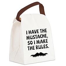 Mustache-009-A Canvas Lunch Bag