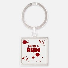 I'm on a run Square Keychain