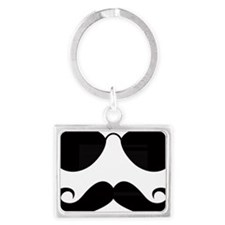 Mustache-025-A Landscape Keychain