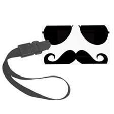 Mustache-025-A Luggage Tag