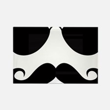 Mustache-025-A Rectangle Magnet
