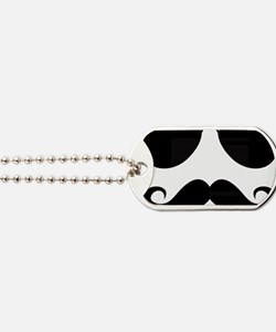 Mustache-025-A Dog Tags
