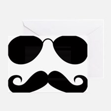 Mustache-025-A Greeting Card