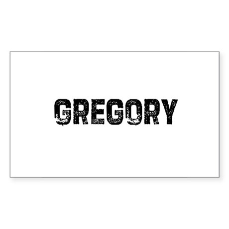 Gregory Rectangle Sticker
