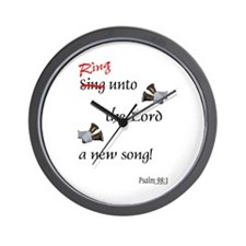 Ring Unto the Lord Wall Clock
