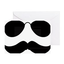 Mustache-049-A Greeting Card