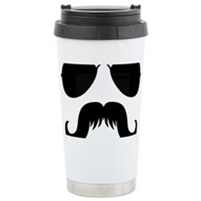 Mustache-032-A Travel Mug