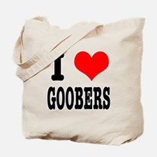 I Heart (Love) Goobers Tote Bag