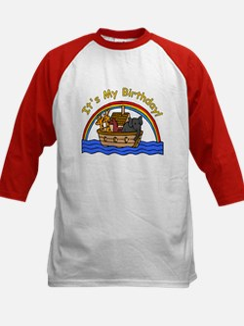 Noah's Ark Birthday Kids Baseball Jersey