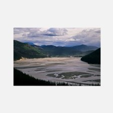 Teknalika River, Alaska Rectangle Magnet