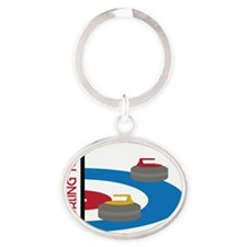 Curling Team Oval Keychain