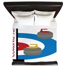 Curling Team King Duvet