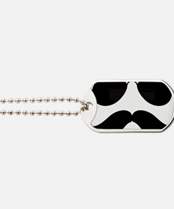 Mustache-048-A Dog Tags