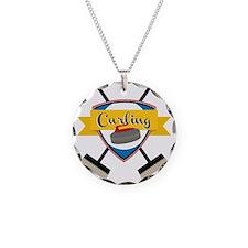 Curling Logo Necklace