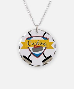 Curling Logo Necklace