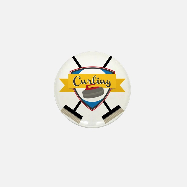 Curling Logo Mini Button