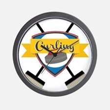Curling Logo Wall Clock