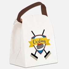 Curling Logo Canvas Lunch Bag