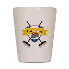 Curling Logo Shot Glass