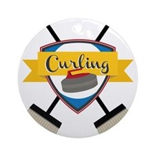 Curling Logo Round Ornament