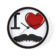 Mustache-008-A Wall Clock