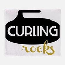 Curling Rocks Throw Blanket