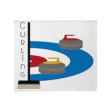 Curling Field Throw Blanket