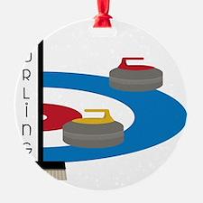 Curling Field Ornament