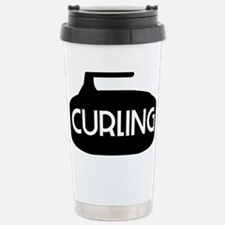 Curling Stone Stainless Steel Travel Mug