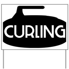 Curling Stone Yard Sign