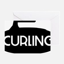 Curling Stone Greeting Card