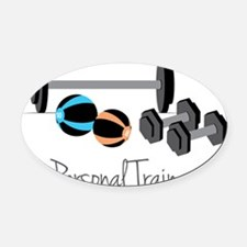 Personal Trainer Oval Car Magnet