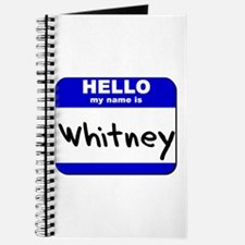 hello my name is whitney Journal