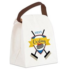 Men's Curling Canvas Lunch Bag