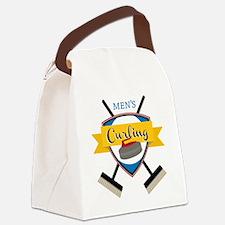 Men's Curling Canvas Lunch Bag