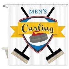 Men's Curling Shower Curtain