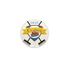 Men's Curling Mini Button