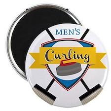 Men's Curling Magnet