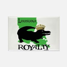 Louisiana Royalty Rectangle Magnet