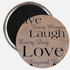 Live, Laugh, Love Magnet