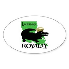 Louisiana Royalty Oval Decal