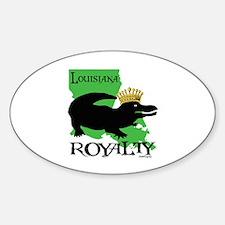 Louisiana Royalty Oval Decal
