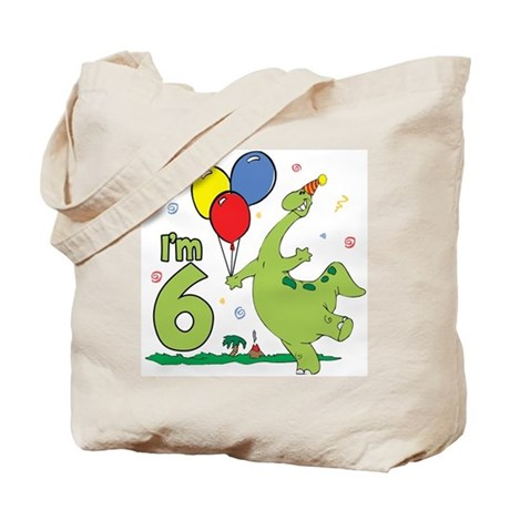 Dino 6th Birthday Tote Bag