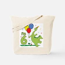 Dino 6th Birthday Tote Bag