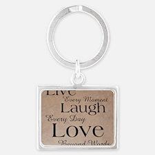 live laugh love Landscape Keychain