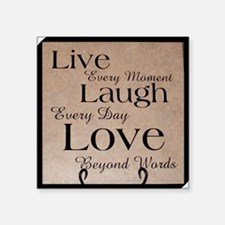 """live laugh love Square Sticker 3"""" x 3"""""""